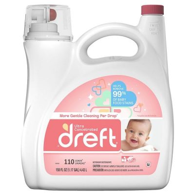 Detergente Para Ropa Ultra Concentrado, Dreft. 4.43 L (150 fl oz).