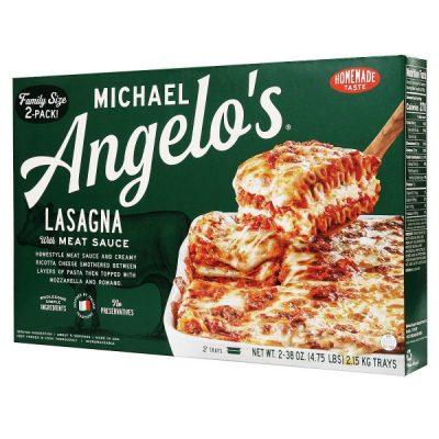 Caja De Lasaña, Con Carne En Salsa, Michael Angelo, 2.15Kg/4.75Lb (2 Unidades)
