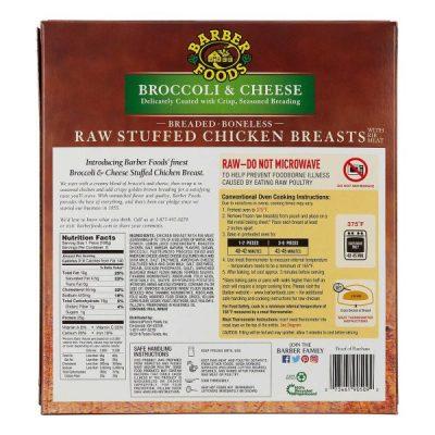 Caja De Barber Foods, Pechugas De Pollo Rellenas, Con Brócoli Y Queso, 6 (Unidades)