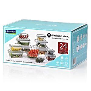 Set De Almacenamiento De Vidrio Para Alimentos, Glasslock Member's Mark. (24 Unidades).