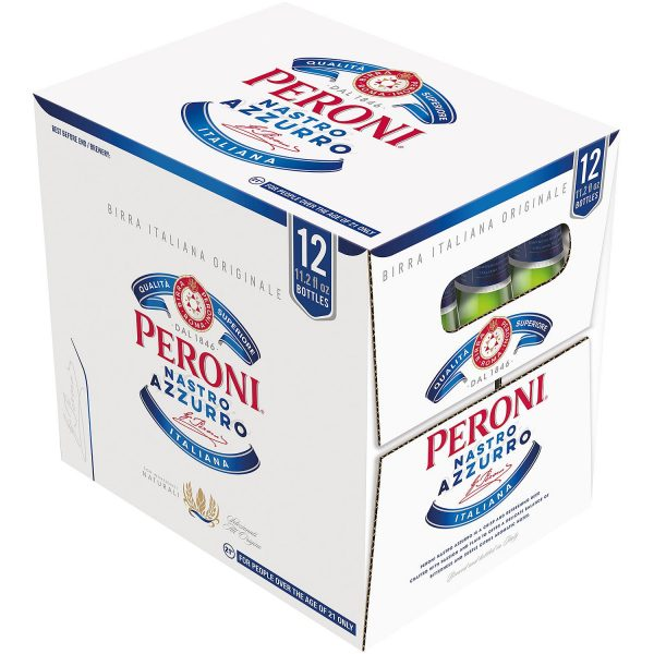 Caja De Cerveza Peroni Nastro Azurro. (12 Unidades).