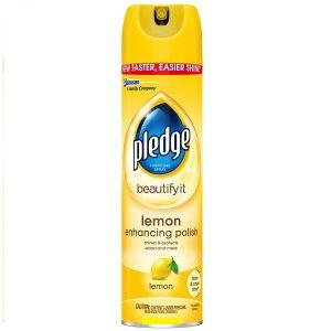Limpiador En Spray, Pledge Aroma A Limón. 403 gr (14.2 oz).
