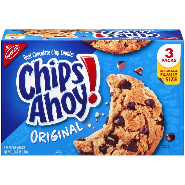 Caja De Chips Ahoy Original, Chocolate Chip, 1.54kg (3lb)