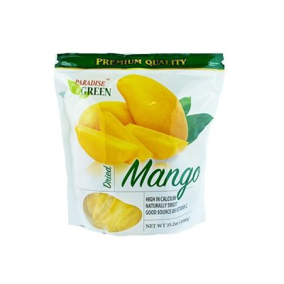 Paquete De Mangos Secos, Paraice Green. 1000g (35.2 oz).
