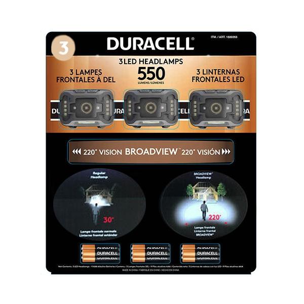 Set De Linternas Multifuncionales Con Bateria, Duracell. (3 Unidades).