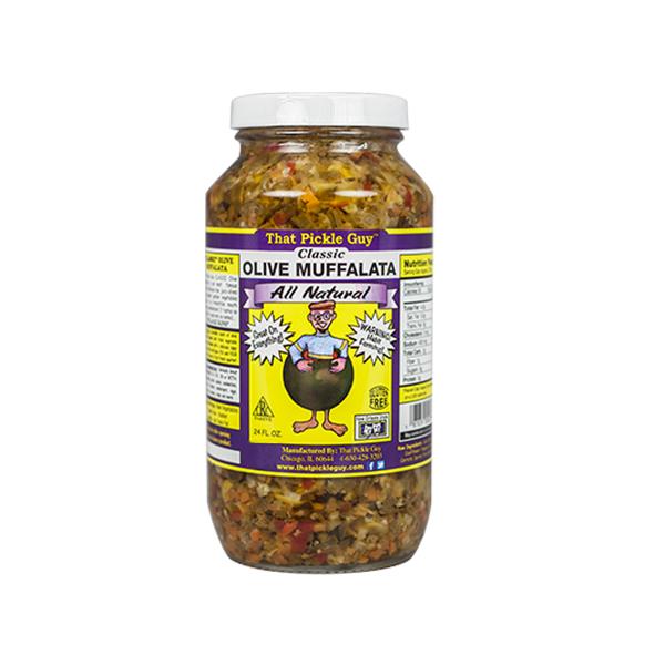 Aceitunas Encurtidas, Olive Muffalata. 710 Ml (24 Oz)