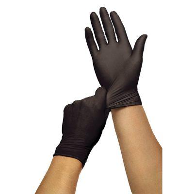 Paquete De Guantes De Nitrilo, Color Negro, Talla M, Sysco Classic. (100 Unidades).