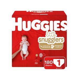 Pañales Huggies Little Snugglers, Talla 1. (180 Unidades)